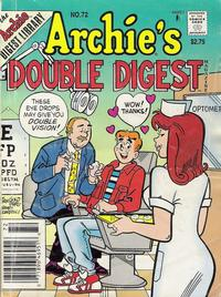 Cover Thumbnail for Archie's Double Digest Magazine (Archie, 1984 series) #72