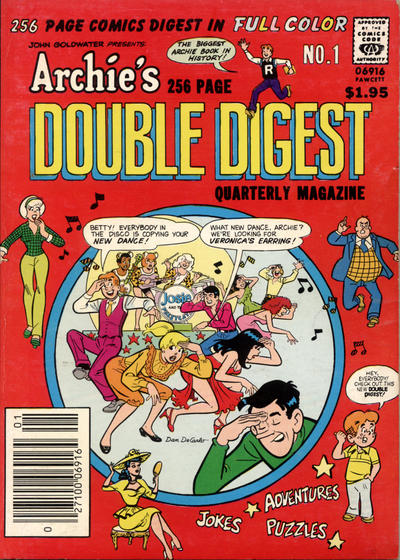 Cover for Archie's Double Digest Quarterly Magazine (Archie, 1982 series) #1