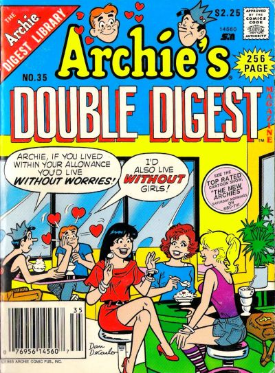Cover for Archie's Double Digest Magazine (Archie, 1984 series) #35
