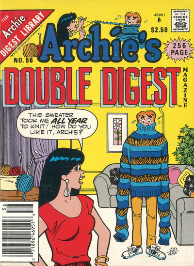 Cover for Archie's Double Digest Magazine (Archie, 1984 series) #56