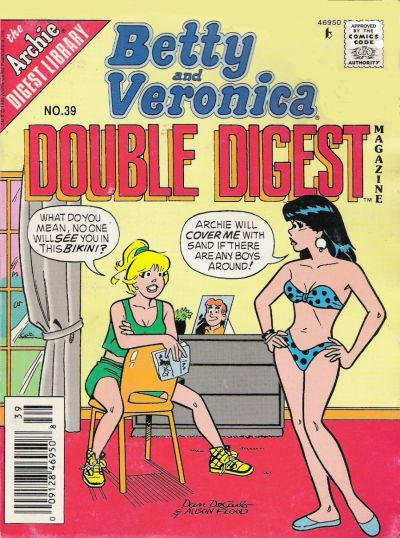 Cover for Betty and Veronica Double Digest Magazine (Archie, 1987 series) #39