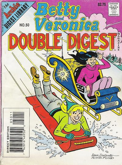 Cover for Betty and Veronica Double Digest Magazine (Archie, 1987 series) #50