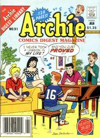 Cover for Archie Comics Digest (Archie, 1973 series) #91