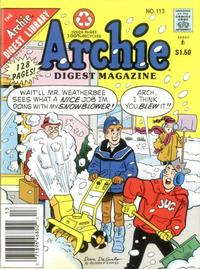 Cover Thumbnail for Archie Comics Digest (Archie, 1973 series) #113