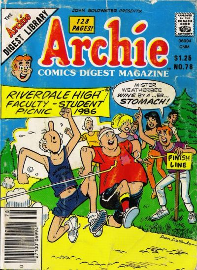 Cover for Archie Comics Digest (Archie, 1973 series) #78