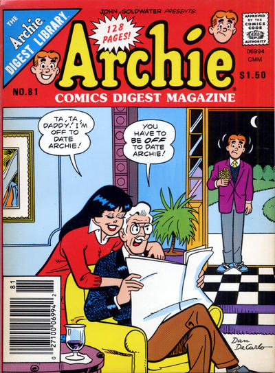 Cover for Archie Comics Digest (Archie, 1973 series) #81