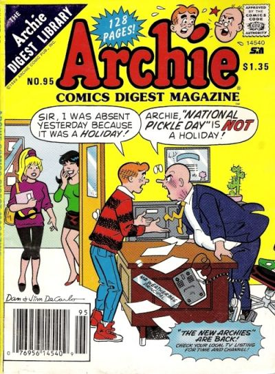 Cover for Archie Comics Digest (Archie, 1973 series) #95