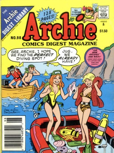 Cover for Archie Comics Digest (Archie, 1973 series) #98