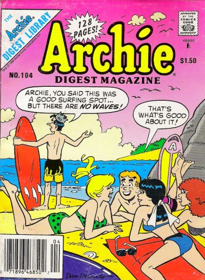 Cover for Archie Comics Digest (Archie, 1973 series) #104