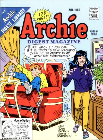 Cover for Archie Comics Digest (Archie, 1973 series) #105