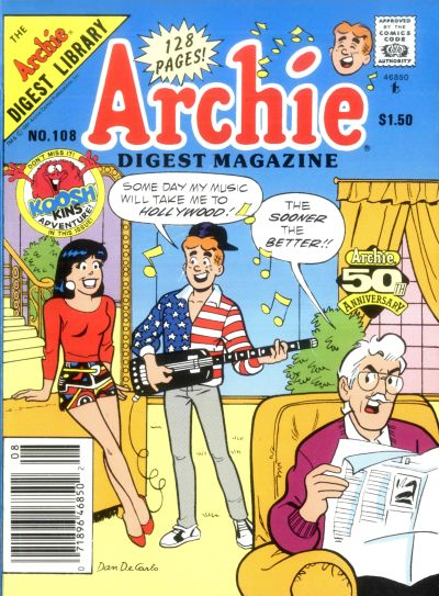 Cover for Archie Comics Digest (Archie, 1973 series) #108