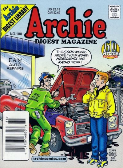 Cover for Archie Comics Digest (Archie, 1973 series) #188