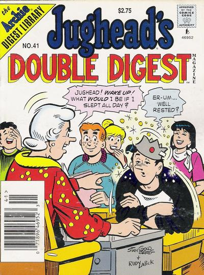 Cover for Jughead's Double Digest (Archie, 1989 series) #41 [Newsstand]