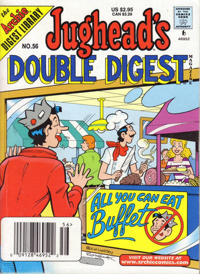 Cover for Jughead's Double Digest (Archie, 1989 series) #56 [Direct Edition]