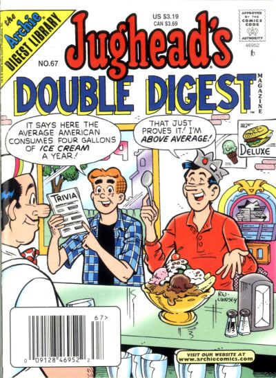 Cover for Jughead's Double Digest (Archie, 1989 series) #67