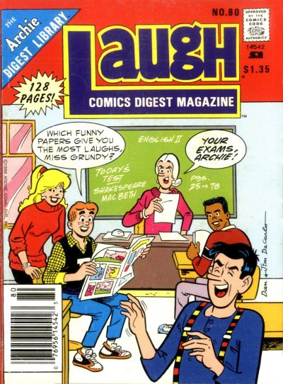 Cover for Laugh Comics Digest (Archie, 1974 series) #80