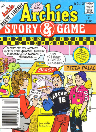 Cover for Archie's Story & Game Digest Magazine (1986 series) #13