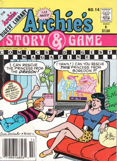Cover for Archie's Story & Game Digest Magazine (Archie, 1986 series) #14 [Newsstand]