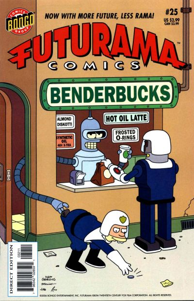 Cover for Bongo Comics Presents Futurama Comics (Bongo, 2000 series) #25