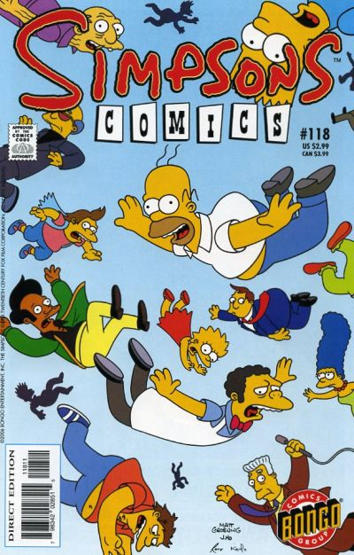 Cover for Simpsons Comics (Bongo, 1993 series) #118