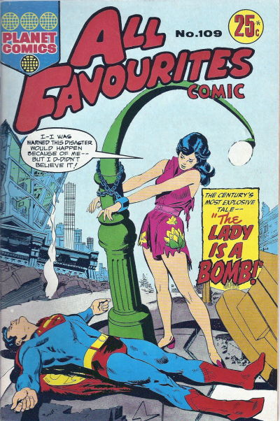 Cover for All Favourites Comic (K. G. Murray, 1960 series) #109