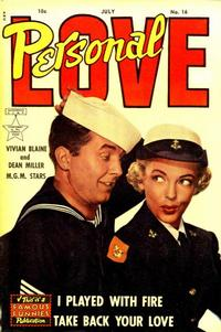 Cover Thumbnail for Personal Love (Eastern Color, 1950 series) #16