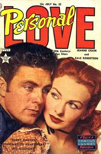 Cover Thumbnail for Personal Love (Eastern Color, 1950 series) #22