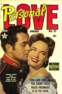 Cover Thumbnail for Personal Love (Eastern Color, 1950 series) #25
