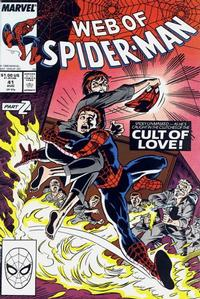 Cover Thumbnail for Web of Spider-Man (Marvel, 1985 series) #41 [Direct Edition]
