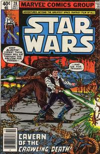 Cover Thumbnail for Star Wars (Marvel, 1977 series) #28 [Newsstand Edition]