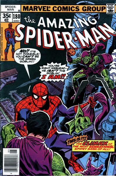 Cover for The Amazing Spider-Man (Marvel, 1963 series) #180 [Regular Edition]
