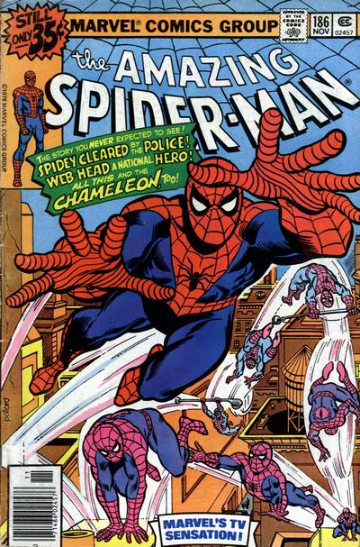 Cover for The Amazing Spider-Man (Marvel, 1963 series) #186