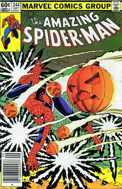 Cover for The Amazing Spider-Man (Marvel, 1963 series) #244 [Direct Edition]