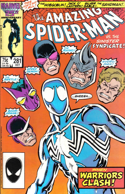 Cover for The Amazing Spider-Man (1963 series) #281 [Newsstand Edition]