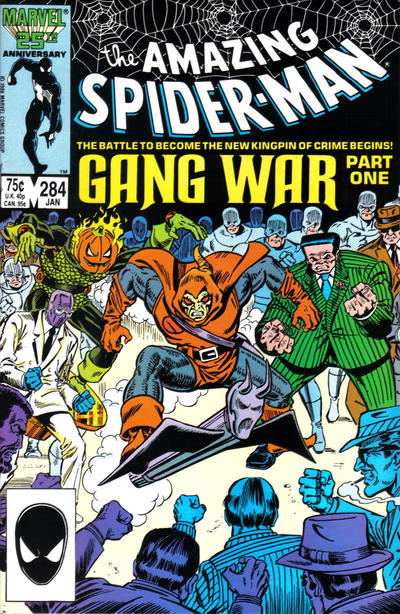 Cover for The Amazing Spider-Man (Marvel, 1963 series) #284 [Newsstand Edition]