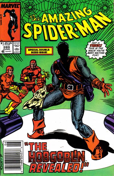 Cover for The Amazing Spider-Man (Marvel, 1963 series) #289 [Direct Edition]