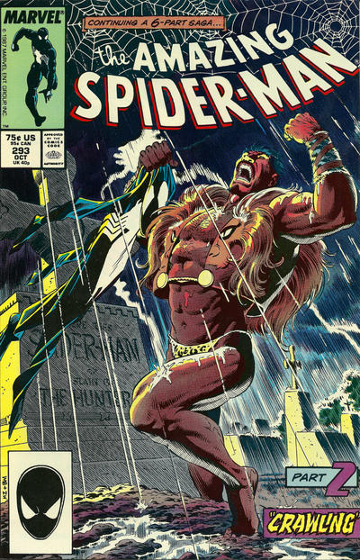 Cover for The Amazing Spider-Man (Marvel, 1963 series) #293 [Direct Edition]
