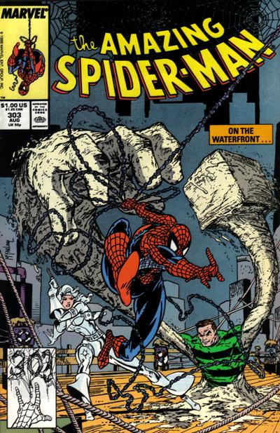 Cover for The Amazing Spider-Man (Marvel, 1963 series) #303 [Direct Edition]