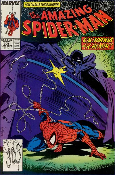 Cover for The Amazing Spider-Man (Marvel, 1963 series) #305 [Direct Edition]