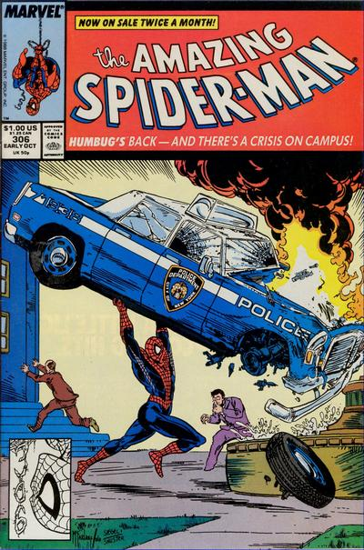 Cover for The Amazing Spider-Man (1963 series) #306 [Newsstand Edition]