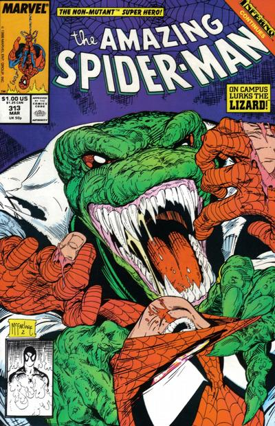 Cover for The Amazing Spider-Man (Marvel, 1963 series) #313 [Direct Edition]