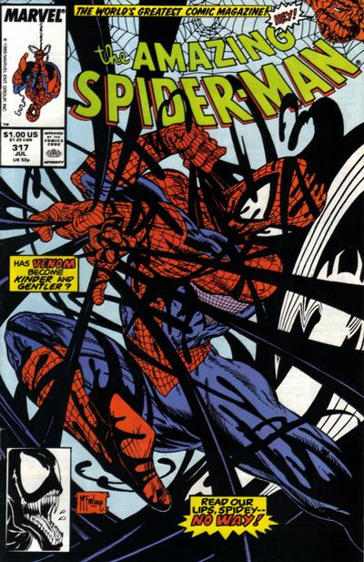Cover for The Amazing Spider-Man (Marvel, 1963 series) #317 [Newsstand Edition]
