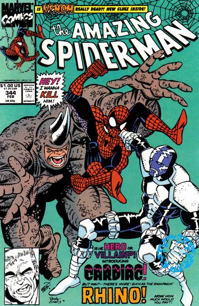Cover for The Amazing Spider-Man (Marvel, 1963 series) #344 [Direct Edition]