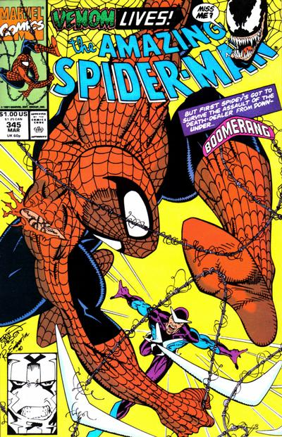 Cover for The Amazing Spider-Man (Marvel, 1963 series) #345 [Direct Edition]