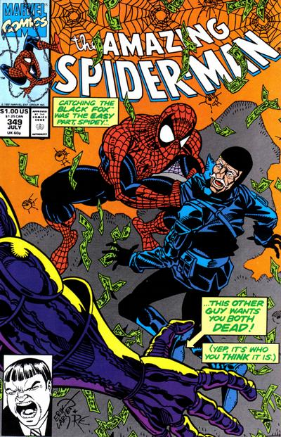 Cover for The Amazing Spider-Man (Marvel, 1963 series) #349 [Direct Edition]