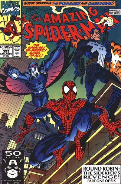 Cover for The Amazing Spider-Man (Marvel, 1963 series) #353 [Direct Edition]