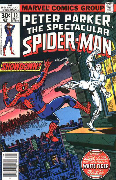 Cover for The Spectacular Spider-Man (Marvel, 1976 series) #10 [35 cent cover price variant]