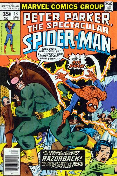 Cover for The Spectacular Spider-Man (Marvel, 1976 series) #13