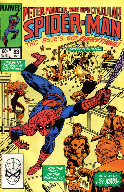 Cover for The Spectacular Spider-Man (Marvel, 1976 series) #83 [newsstand]
