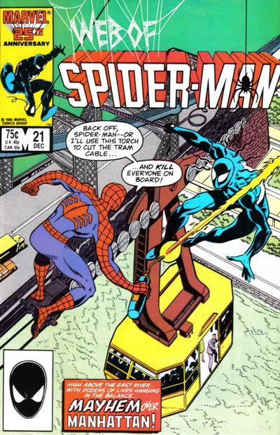 Cover for Web of Spider-Man (1985 series) #21 [Direct Edition]